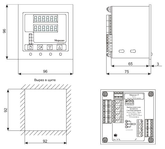 Блок управления Мерадат-Т тахометра-регулятора электронного дистанционного